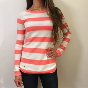 Lilly Pulitzer Pink & White Striped Sweater